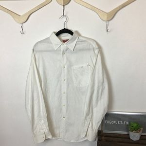 GUESS Embroidered Long Sleeve Button Up Shirt
